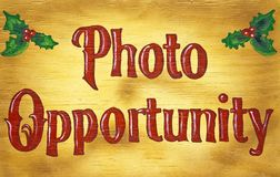 Wood Photo Opportunity Sign Stock Images