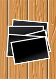 Wood and photos Stock Images