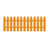 Wood Picket Fence Illustration Stock Image