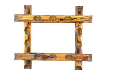 Wood picture frame. Wood photo frame with self designed carving Royalty Free Stock Photo