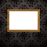 Wood picture frame black Stock Images
