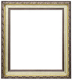 Wood picture frame. Wood frame isolated on a white background Stock Photos