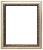 Wood picture frame. Wood frame isolated on a white background Royalty Free Stock Image