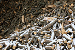 Wood. Pieces of wood under the snow Royalty Free Stock Photography
