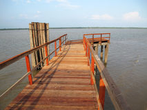 Wood pier. Amazon river - Brazil Royalty Free Stock Photos