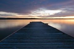 Wood pier Royalty Free Stock Photo