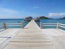 Wood pier Stock Photography