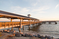 Wood Pier in Early Morning Light. Stock Images