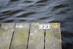 Wood pier on the lake Stock Photography