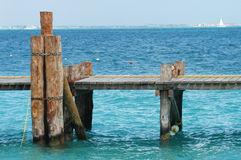 Wood pier - Mexico Royalty Free Stock Photo