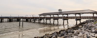 Free Wood Pier On Stormy Day Royalty Free Stock Photography - 146189967