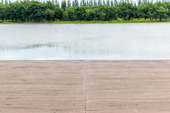 Wood pier or walkway on an old wooden Royalty Free Stock Photography
