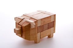 Wood Piggy Stock Photos