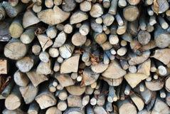 Wood pile. A pile of wood freshly cut Stock Photo