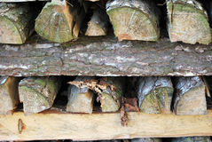 Wood pile. A pile of wood freshly cut Royalty Free Stock Images
