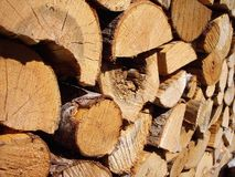 Wood Pile. Wood stacked for winter royalty free stock photography