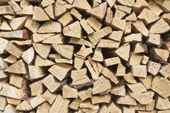 Wood pile. Pile of chopped pine firewood Stock Photography