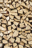 Wood pile. Pile of chopped pine firewood Royalty Free Stock Images