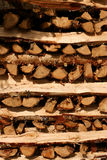 Wood pile. Wood stacked for the winter Royalty Free Stock Image