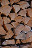 Wood Pile. D high as fuel for the oncoming winter Royalty Free Stock Photo