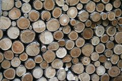 Wood pile. For burning wood Royalty Free Stock Photos