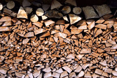 Wood pile. Huge wood pile after being cut with much effort with an axe Stock Images