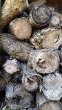 Wood Pile Background Stock Photo