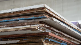 Wood pile. Wood pile for build stage on television Stock Image