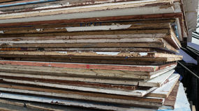 Wood pile. Wood pile for build stage on television Stock Images