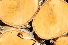 Wood pile close-up Royalty Free Stock Photos