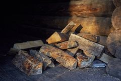 Wood Pile Closeup Royalty Free Stock Images
