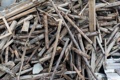 Wood pile Stock Photo