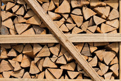 Wood pile for firewood Stock Photos