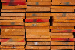 Wood pile kept in stock for sale. Royalty Free Stock Photo