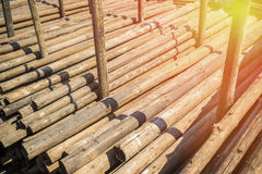 The wood pile from old house Royalty Free Stock Photos