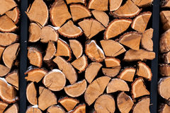 Wood pile outside Royalty Free Stock Image