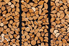 Wood pile outside Stock Photography