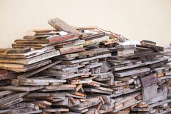 Wood pile prepared for winter cold royalty free stock images