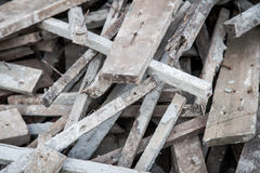 Wood pile recycling material texture background Stock Image