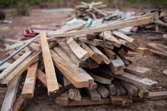 Wood pile. Remaining  construction Stock Photos