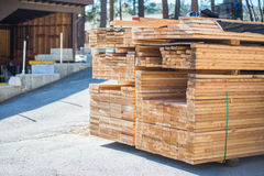 Wood Pile For Sales Stock Photography