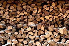 Wood piles Royalty Free Stock Photography