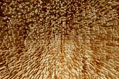 Wood pillar explosion Royalty Free Stock Images