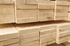 Wood pine timber for construction buildings Royalty Free Stock Photography