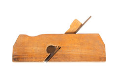 Wood plane. Old carpenter tool - wood plane - on a white background Royalty Free Stock Images