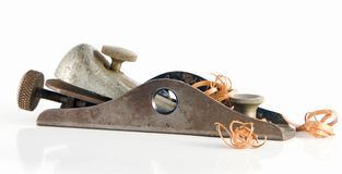 Wood Plane. Old Vintage Wood Plane Still Ready for the Job royalty free stock image
