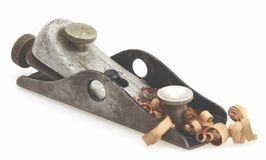 Wood Plane. Old Vintage wood workers hand plane for shaving boards stock photography