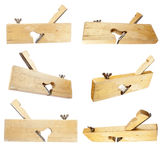 Wood plane collection Royalty Free Stock Images