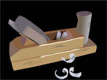 Wood plane tool Royalty Free Stock Images