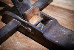 Wood plane tool Stock Photography